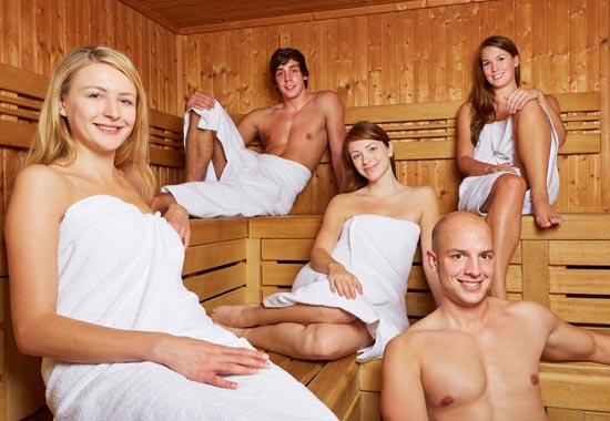 Правильная компания для посещения бани