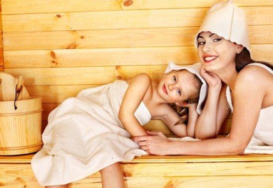 В бане с ребенком